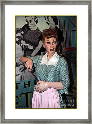 Lucille Ball Cartoon Framed Print by Sophie Vigneault
