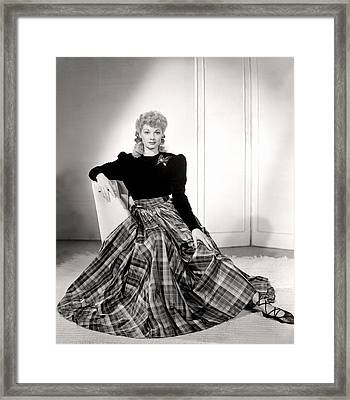 Lucille Ball In A Portrait, 1940s Framed Print by Everett