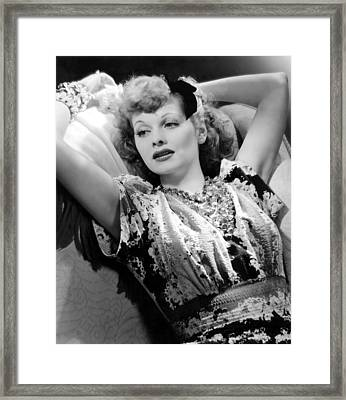 Lucille Ball, Rko Publicity Portrait Framed Print by Everett