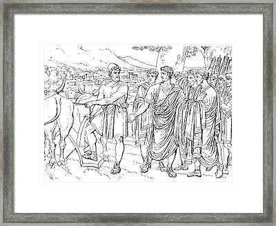 Lucius Cincinnatus Framed Print by Granger