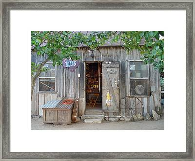 Framed Print featuring the photograph Luckenbach Texas 2006 by Elizabeth Sullivan