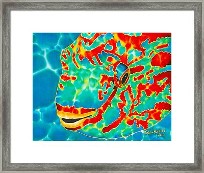 Lucky Parrotfish Framed Print