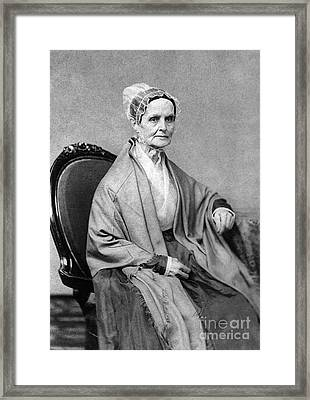 Lucretia Coffin Mott, American Activist Framed Print by Photo Researchers