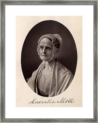 Lucretia Coffin Mott.  F. Gutekunst Framed Print by Everett