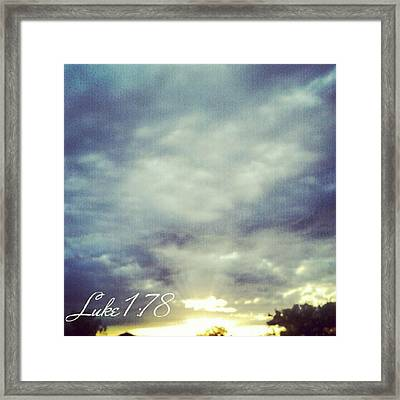 Luke 1:78 Esv  Because Of The Tender Framed Print by Kel Hill