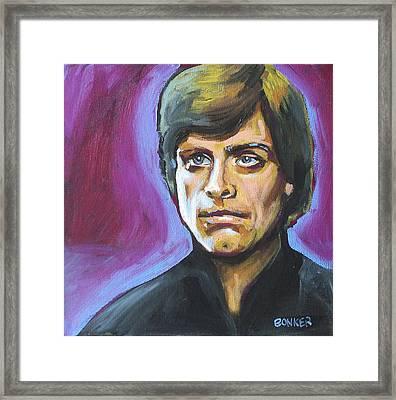 Luke Skywalker Framed Print by Buffalo Bonker