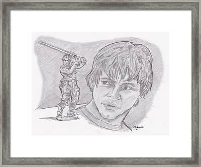 Luke Skywalker Episode V Framed Print by Chris  DelVecchio