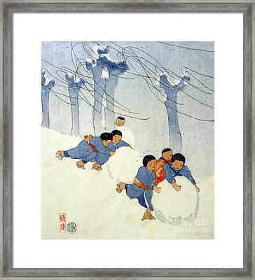 Lum: Snow Balls, C1913 Framed Print