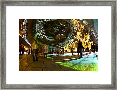 Luminous Light Show Under The Bean Framed Print by Sven Brogren