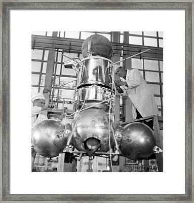 Luna 16 Spacecraft Framed Print by Ria Novosti