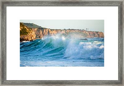 Lunada Bay Ocean Spray Framed Print