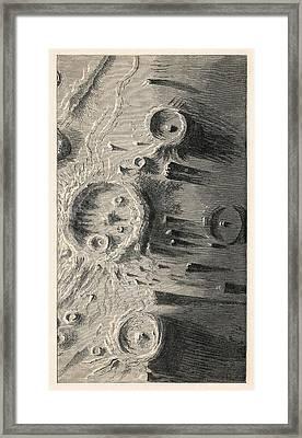 Lunar Craters, 1866 Artwork Framed Print