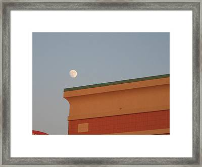 Lunar Perspective Framed Print by Sonali Gangane