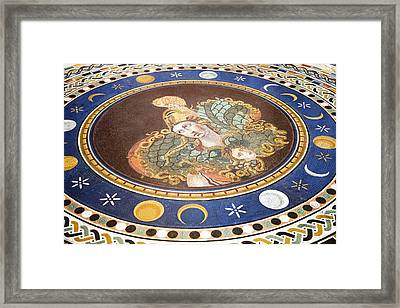 Lunar Phases, 3rd Century Roman Mosaic Framed Print