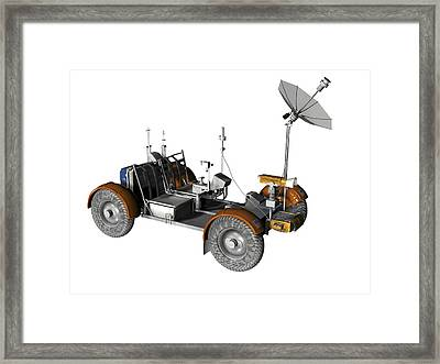 Lunar Rover, Artwork Framed Print by Friedrich Saurer