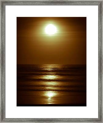 Lunar Tides I Framed Print by DigiArt Diaries by Vicky B Fuller