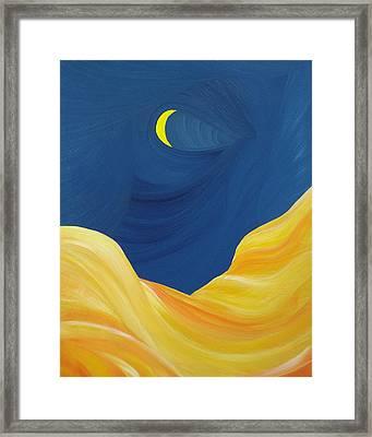 Lunascape Framed Print by Ginny Gaura