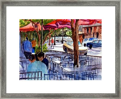 Lunch Alfresco Framed Print by Ron Stephens