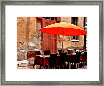 Lunch? Framed Print by Christine Burdine