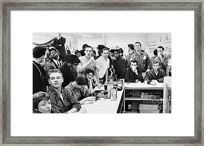 Lunch Counter Sit-in, 1960 Framed Print