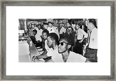 Lunch Counter Sit-in, 1961 Framed Print by Granger