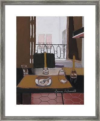 Lunch In Our Rented Paris Flat Framed Print