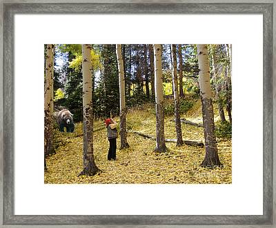 Framed Print featuring the photograph Lunch? by Nava Thompson