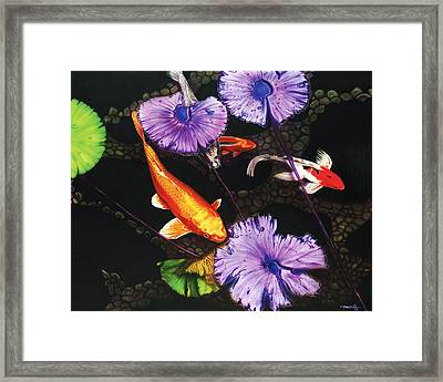 Framed Print featuring the painting Lunch Time by Dan Menta