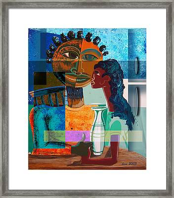 Lunch With Dad Framed Print by Kevin McDowell