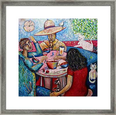 Lunch With Toller Cranston Framed Print by Andrew Osta