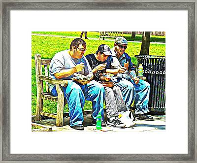 Framed Print featuring the photograph Lunchtime by Alice Gipson