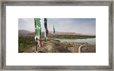 Lunda Poles Near Yellow River. View Framed Print by Phil Borges