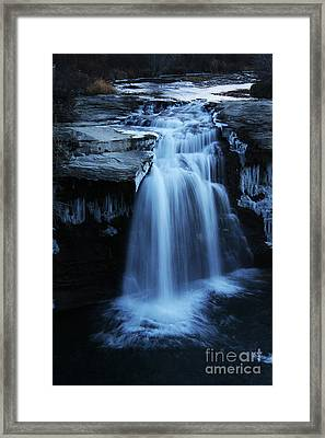 Framed Print featuring the photograph Lundbreck Falls by Alyce Taylor