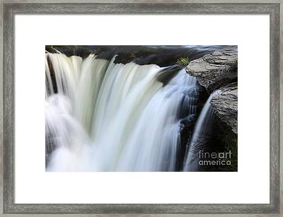 Lundbreck Falls Detail Framed Print by Bob Christopher