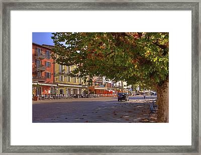 Lungolago Ascona Framed Print by Joana Kruse