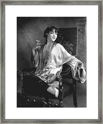 Lupe Velez, Circa 1920s Framed Print by Everett