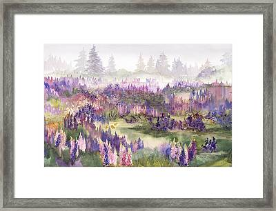 Lupines Galore Framed Print