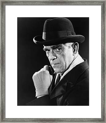 Lured, Boris Karloff, 1947 Framed Print by Everett