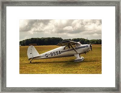 Luscombe 8e Deluxe 2 Seater Plane Framed Print