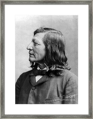 Luther Standing Bear Framed Print by Granger