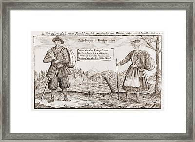 Lutheran Religious Refugees, Fleeing Framed Print