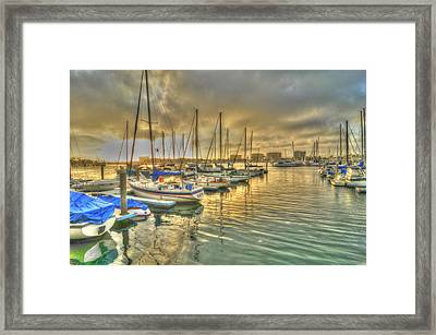 Luv Lane Sunset Framed Print