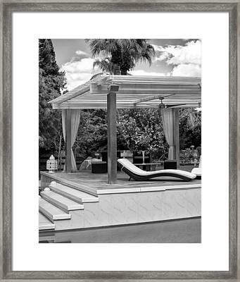 Luxe Tux Chaise Palm Springs Framed Print by William Dey
