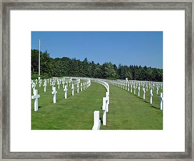 Luxembourg World War II American Cemetery  Framed Print