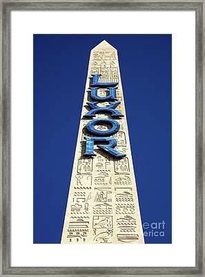 Luxor Las Vegas Obelisk Framed Print