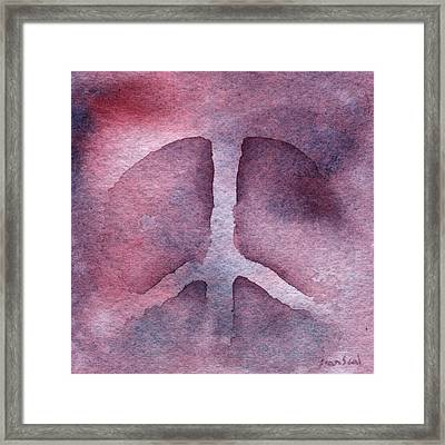 Luxurious Peace Framed Print by Sean Seal