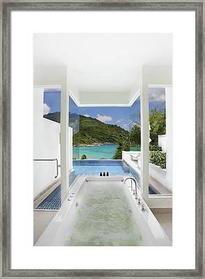 Luxury Bathroom  Framed Print by Setsiri Silapasuwanchai