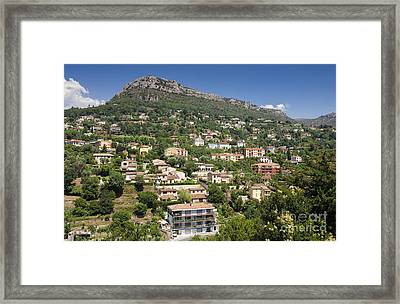 Luxury Hillside Houses And Apartments In Provence Framed Print