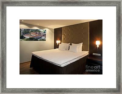 Luxury Hotel Bed Framed Print