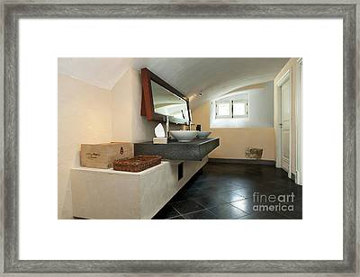 Luxury Public Bathroom Framed Print by Jaak Nilson